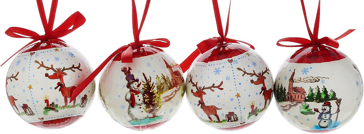 Набор новогодних подвесных украшений Erich Krause Веселые картинки, диаметр 6 см, 4 штSM-21BНабор подвесных украшенийErich Krause Веселые картинки прекрасно подойдет для праздничного декора новогодней ели. Набор состоит из 4 пластиковых украшений.Для удобного размещения на елке для каждого украшения предусмотрено петелька. Елочная игрушка - символ Нового года. Она несет в себе волшебство и красоту праздника. Создайте в своем доме атмосферу веселья и радости, украшая новогоднюю елку нарядными игрушками, которые будут из года в год накапливать теплоту воспоминаний. Откройте для себя удивительный мир сказок и грез. Почувствуйте волшебные минуты ожидания праздника, создайте новогоднее настроение вашим дорогим и близким.Диаметр: 6 см.Длина: 6 см.