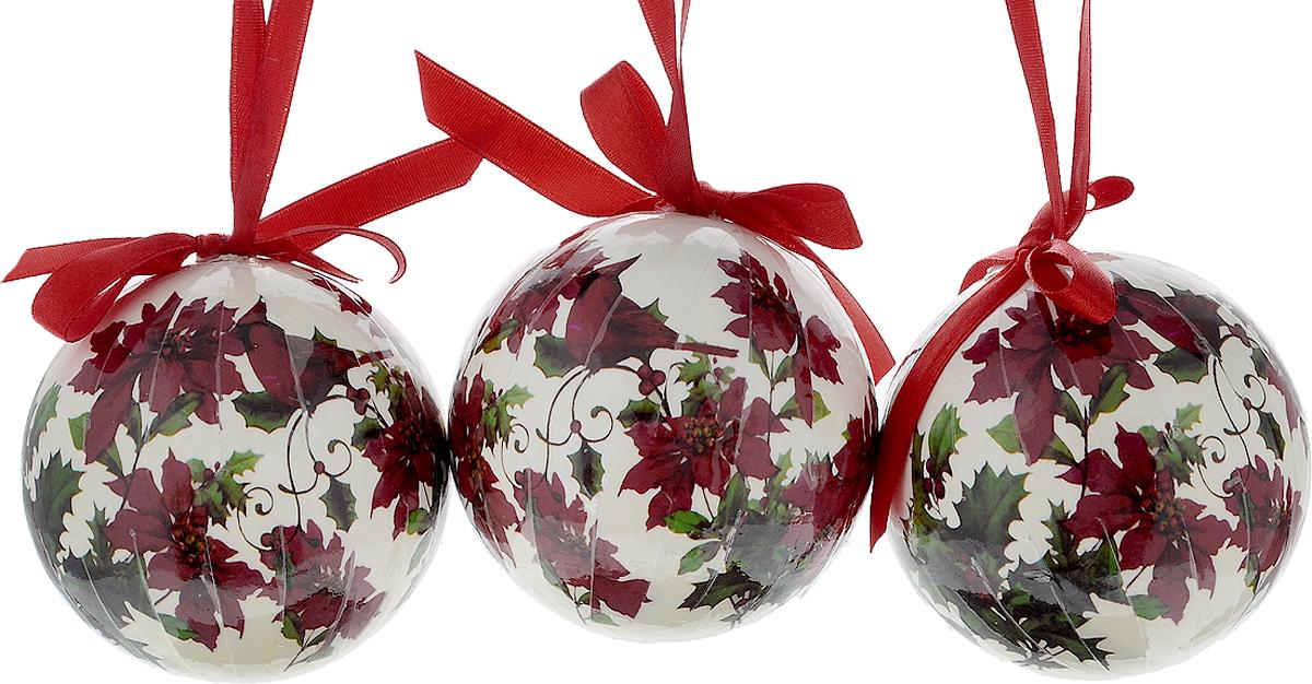 Набор новогодних подвесных украшений Erich Krause Птичьи напевы, диаметр 7,5 см, 3 шт