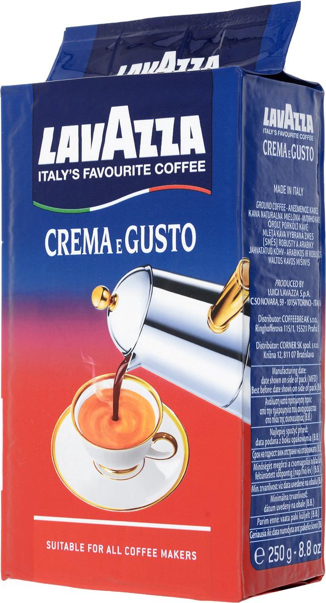 Lavazza Crema Gusto кофе молотый, 250 г0120710Lavazza Crema Gusto - это великолепный купаж индийской робусты и бразильской арабики. Зерна были подвержены сильной обжарке, за счет которой получается крепкий и насыщенный вкус, а также густая пенка.