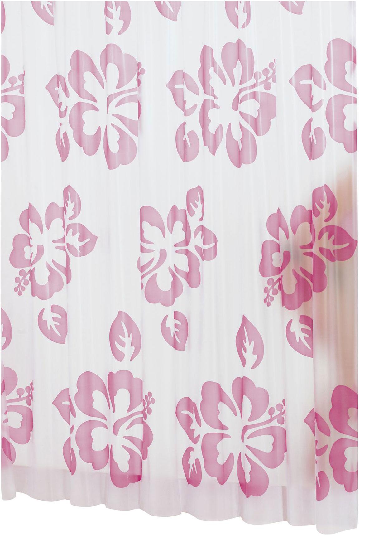 Штора для ванной комнаты Ridder Flowerpower, цвет: розовый, 180 х 200 смK1818-DFВысококачественная немецкая штора для душа создает прекрасное настроение.Продукты из эколена не имеют запаха и считаются экологически чистыми.Ручная стирка. Не гладить.