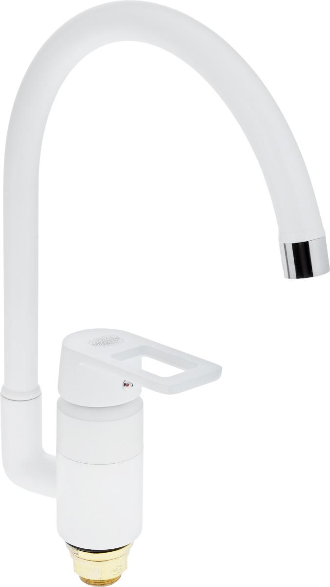 Смеситель для кухни РМС, с высоким изливом, цвет: белый. SL77W-017F смеситель для кухни рмс sl77w 017f 1
