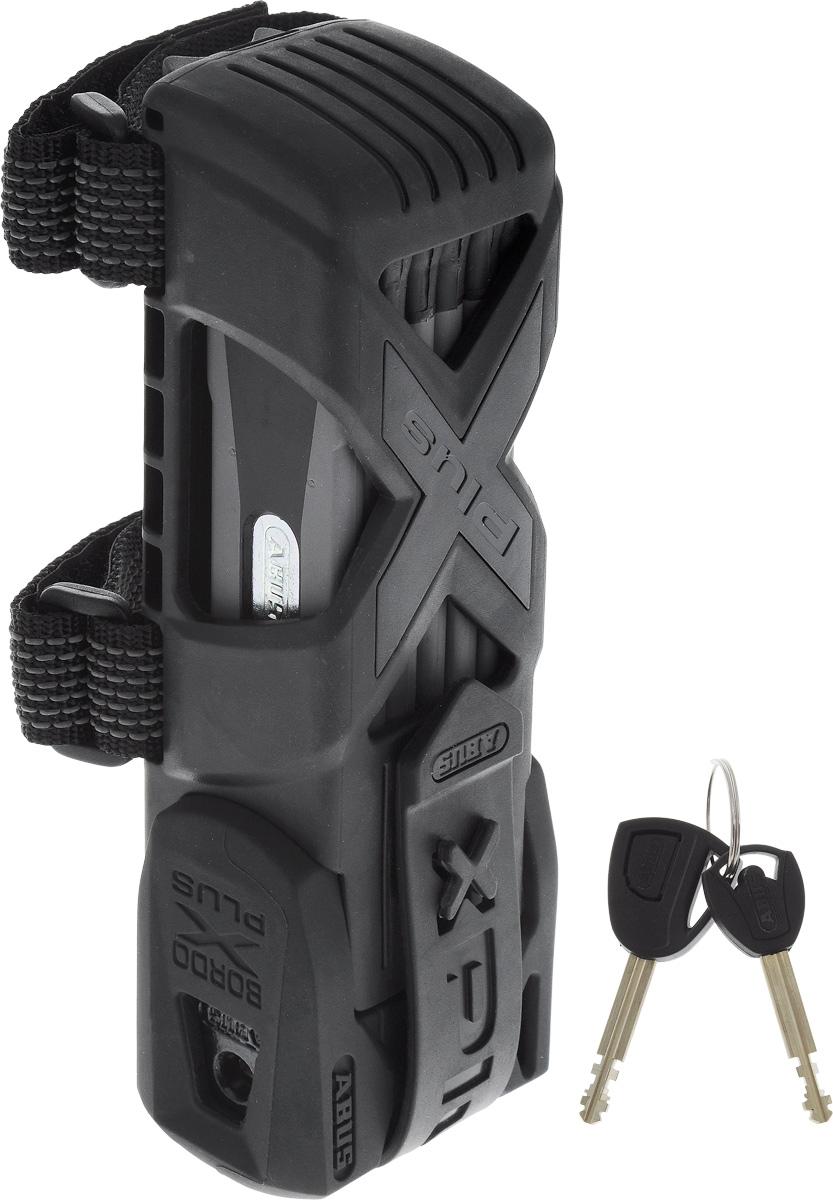 """Велозамок Abus """"Bordo Granit X-Plus 6500/85"""", с ключами, цвет: черный, серый"""