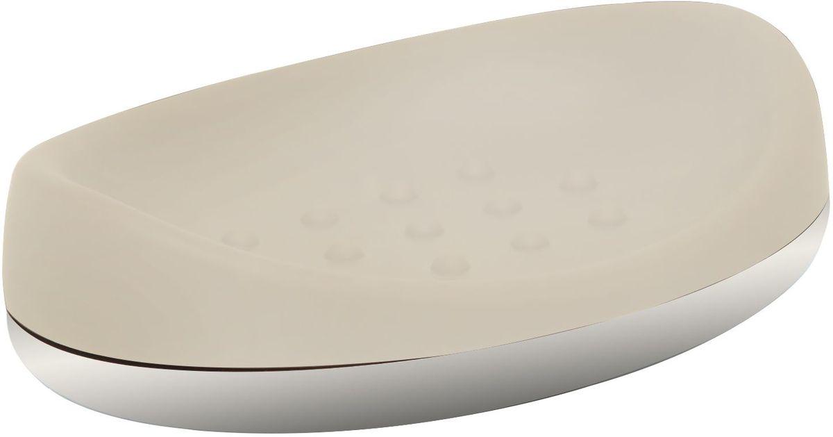 Мыльница Proffi Home, цвет: ваниль, хром, 14 х 9,8 х 3,5 смRG-D31SМыльница Proffi Home - это стильный аксессуар для хранения мыла. Мыльница выполнена из пластика с каучуковым покрытием и дополнена хромированными элементами. Каучуковое покрытие обеспечивает антискользящий эффект, а пластик отличается легкостью, прочностью и долговечностью. Рифленое дно предотвращает размокание и соскальзывание мыла. Благодаря лаконичной форме и хромированным деталям такой аксессуар отлично впишется в любой интерьер ванной комнаты.