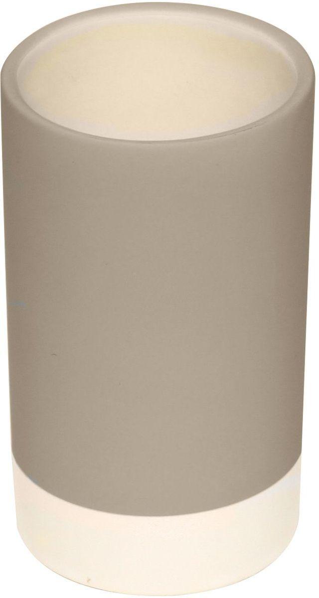 Стакан для зубных щеток Proffi Home, цвет: бежевый, белый, 280 мл proffi шторка для ванной proffi home жасмин 180х200см