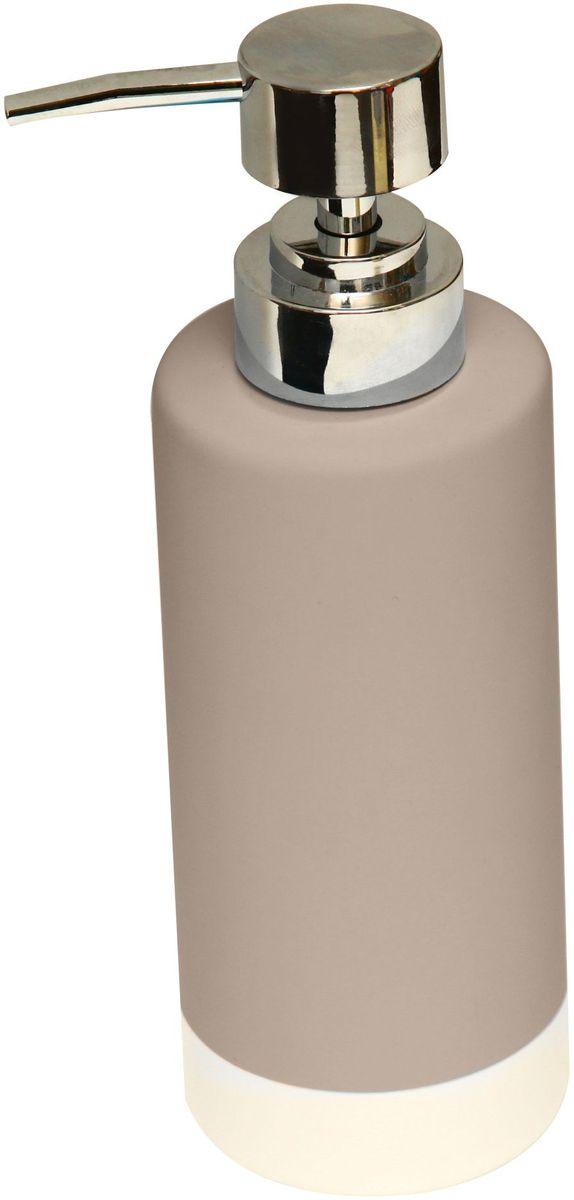 Диспенсер для жидкого мыла Proffi Home, цвет: бежевый, белый, 350 мл282170Диспенсер Proffi Home - незаменимый аксессуар для тех, кто ценит чистоту своей раковины и экономный расход мыла. Вы можете легко переставлять его при необходимости. Этот диспенсер выполнен из керамики с каучуковым покрытием, которое обеспечивает антискользящий эффект. Керамика выгодно отличается от других материалов в первую очередь натуральностью и благородным внешним видом. Этот материал устойчив к перепадам температур, повышенной влажности и бытовым химическим средствам. Благодаря лаконичной форме такой аксессуар отлично впишется в любой интерьер ванной комнаты и станет ее украшением.