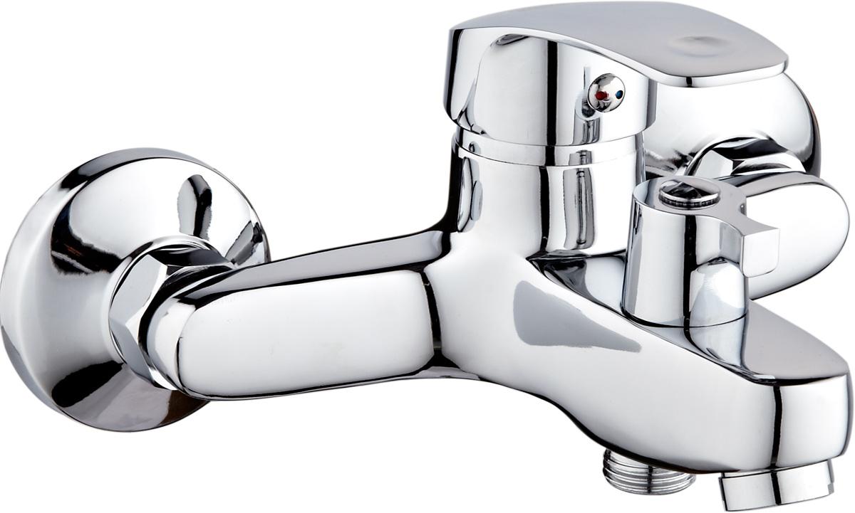 Смеситель для ванны РМС, с коротким изливом, цвет: хром. SL85-009E смеситель для ванны рмс sl77w 009e