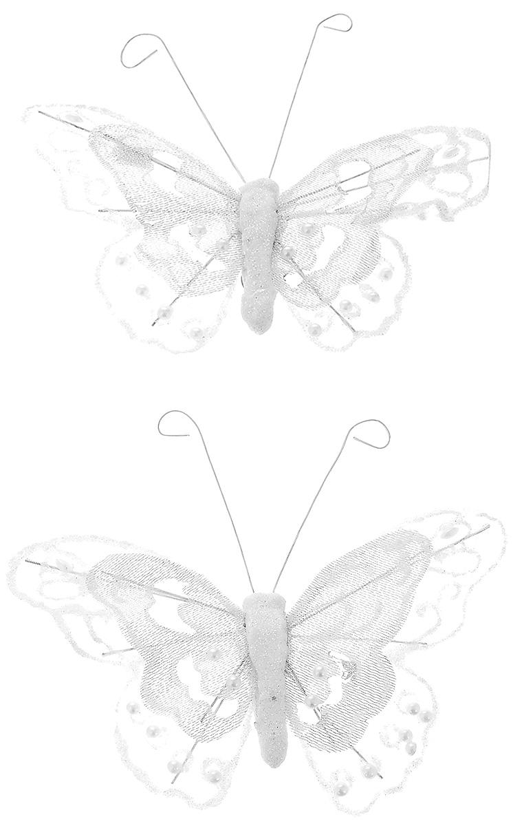 Набор новогодних подвесных украшений Erich Krause Бабочки, диаметр 12 см, 2 шт