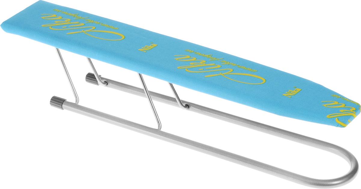 Рукав для гладильной доски HITT Carina, 50 х 9 смПHITT Carina применяется для глажки рукавов и манжетов. Чехол изделия выполнен из высококачественного хлопка, внутри прослойка из поролона. Рабочая часть изготовлена из дерева. Рукав оснащен металлическими складными ножками.Размер рабочей части: 50 х 9 см.Высота рукава: 10,5 см.УВАЖАЕМЫЕ КЛИЕНТЫ! Товар поставляется в цветовом ассортименте. Поставка осуществляется в зависимости от наличия на складе.