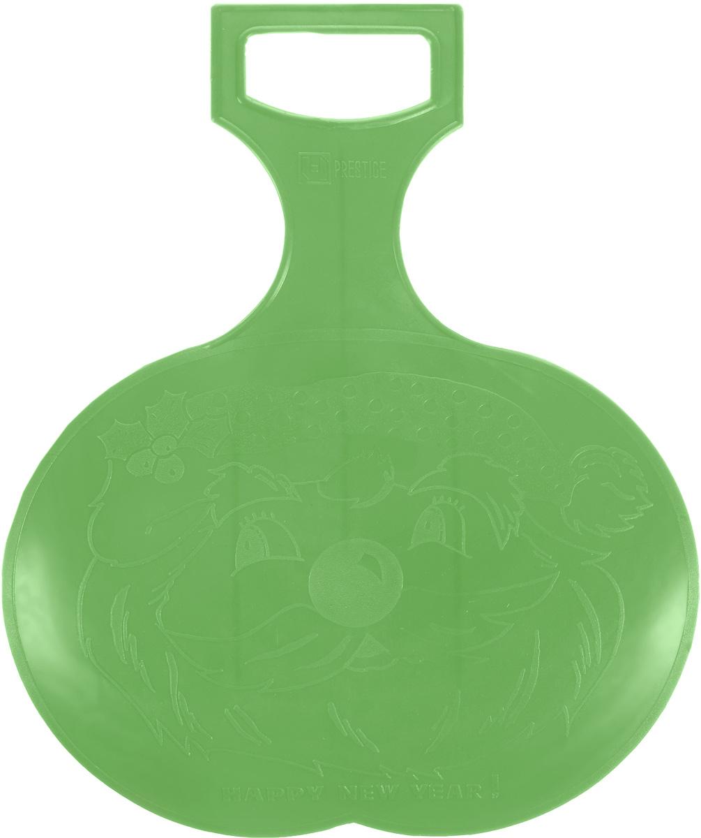 Санки-ледянки Престиж, цвет: зеленый, 38 х 32 смХот ШейперсЛюбимая детская зимняя забава - это катание с горки. Яркие санки-ледянки Престиж станут незаменимым атрибутом этой веселой детской игры. Санки-ледянки - это специальная пластиковая тарелка, облегчающая скольжение и увеличивающая скорость движения по горке. Ледянка выполнена из прочного гибкого пластика и снабжена ручкой для транспортировки. Конфигурация санок позволяет удобно сидеть и развивать лучшую скорость. Благодаря малому весу ледянку, в отличие от обычных санок, легко нести с собой даже ребенку.
