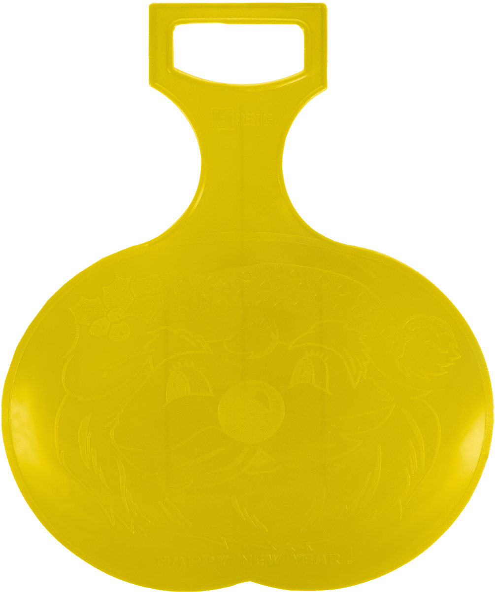 Санки-ледянки Престиж, цвет: желтый, 38 х 32 смХот ШейперсЛюбимая детская зимняя забава - это катание с горки. Яркие санки-ледянки Престиж станут незаменимым атрибутом этой веселой детской игры. Санки-ледянки - это специальная пластиковая тарелка, облегчающая скольжение и увеличивающая скорость движения по горке. Ледянка выполнена из прочного гибкого пластика и снабжена ручкой для транспортировки. Конфигурация санок позволяет удобно сидеть и развивать лучшую скорость. Благодаря малому весу ледянку, в отличие от обычных санок, легко нести с собой даже ребенку.