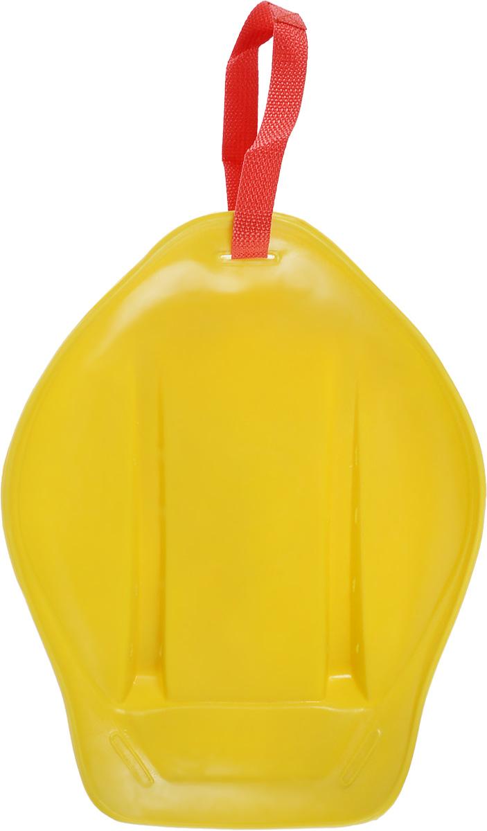 Санки-ледянки Престиж, с ручкой-ремнем, цвет: желтый, 32,5 х 26,5 х 7 смLA010301Любимая детская зимняя забава - это кататься с горки. Яркие санки-ледянки Престиж станут незаменимым атрибутом этой веселой детской игры. Санки-ледянки - это специальная пластиковая тарелка, облегчающая скольжение и увеличивающая скорость движения по горке. Ледянка выполнена из прочного гибкого пластика и снабжена текстильной ручкой для транспортировки. Конфигурация санок позволяет удобно сидеть и развивать лучшую скорость. Благодаря малому весу ледянку, в отличие от обычных санок, легко нести с собой даже ребенку.