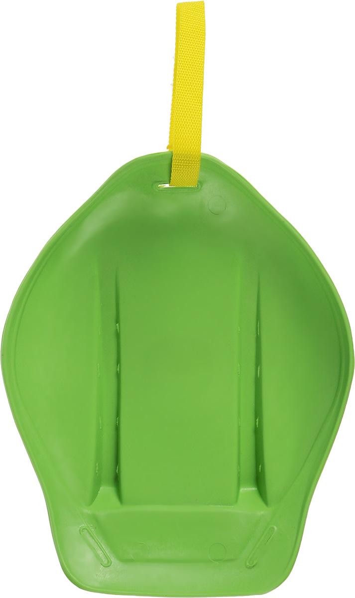 Санки-ледянки Престиж, с ручкой-ремнем, цвет: зеленый, 32,5 х 26,5 х 7 см296Любимая детская зимняя забава - это кататься с горки. Яркие санки-ледянки Престиж станут незаменимым атрибутом этой веселой детской игры. Санки-ледянки - это специальная пластиковая тарелка, облегчающая скольжение и увеличивающая скорость движения по горке. Ледянка выполнена из прочного гибкого пластика и снабжена текстильной ручкой для транспортировки. Конфигурация санок позволяет удобно сидеть и развивать лучшую скорость. Благодаря малому весу ледянку, в отличие от обычных санок, легко нести с собой даже ребенку.