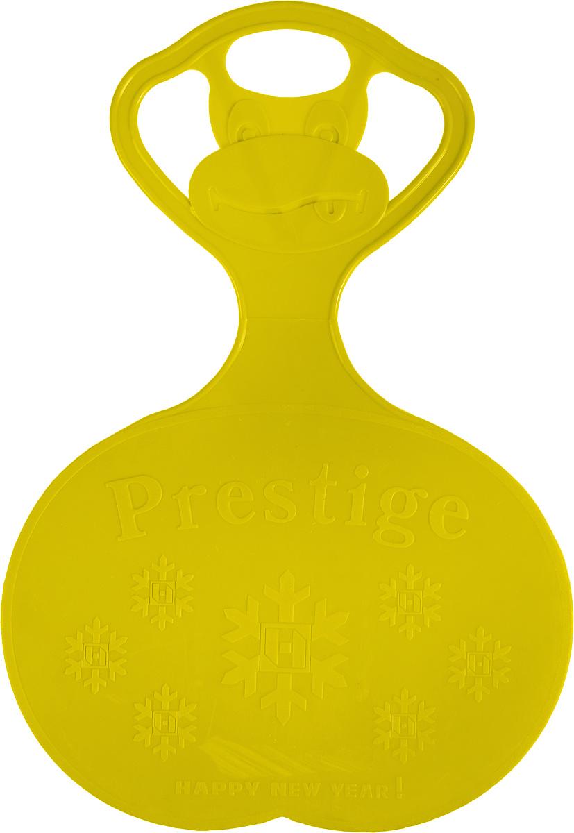Санки-ледянки Престиж, с символикой, цвет: желтый, 47 х 32 см336896Любимая детская зимняя забава - это катание с горки. Яркие санки-ледянки Престиж станут незаменимым атрибутом этой веселой детской игры. Изделие украшено рельефной символикой.Санки-ледянки - это специальная пластиковая тарелка, облегчающая скольжение и увеличивающая скорость движения по горке. Ледянка выполнена из прочного гибкого пластика и снабжена ручкой для переноски. Конфигурация санок позволяет удобно сидеть и развивать лучшую скорость. Благодаря малому весу ледянку, в отличие от обычных санок, легко нести с собой даже ребенку.