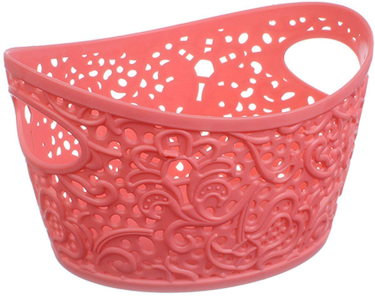 Корзинка Idea Кружево, цвет: коралловый, 1 л6221CУниверсальная корзинка Idea изготовлена из высококачественного пластика с перфорированными стенками и сплошным дном. Такая корзинка непременно пригодится в быту, в ней можно хранить кухонные принадлежности, специи, аксессуары для ванной и другие бытовые предметы, диски и канцелярию.Размер корзинки: 15,7 х 12 х 32,5 см. Объем корзинки: 1 л.