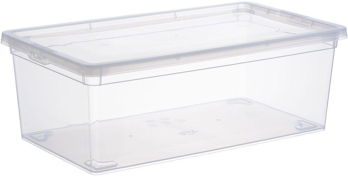 Ящик Idea, цвет: прозрачный, 5,5 лБрелок для ключейЯщик Idea выполнен из прочного пластика и предназначен для хранения различныхпредметов. Вместительный ящик плотно закрывается при помощи крышки.Вместительный ящик позволит сохранить нужные вещи в чистоте и порядке, а герметичнаякрышка предотвратит случайное открывание, защитит содержимое от пыли и грязи.Размер ящика (с учетом крышки): 34 х 19 см х 12 см.Объем ящика: 5,5 л.