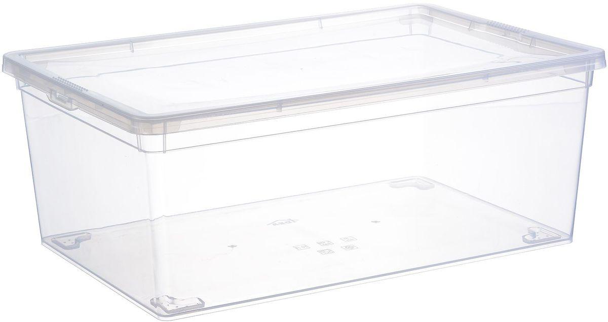 Ящик для хранения Idea, цвет: прозрачный, 10 л. М 235212723Ящик Idea, выполненный из прочного прозрачного пластика, предназначен для хранения пищевых продуктов. Вместительный ящик закрывается при помощи крышки. Размер ящика: 25 х 37 х 14 см.Объём: 10 л.