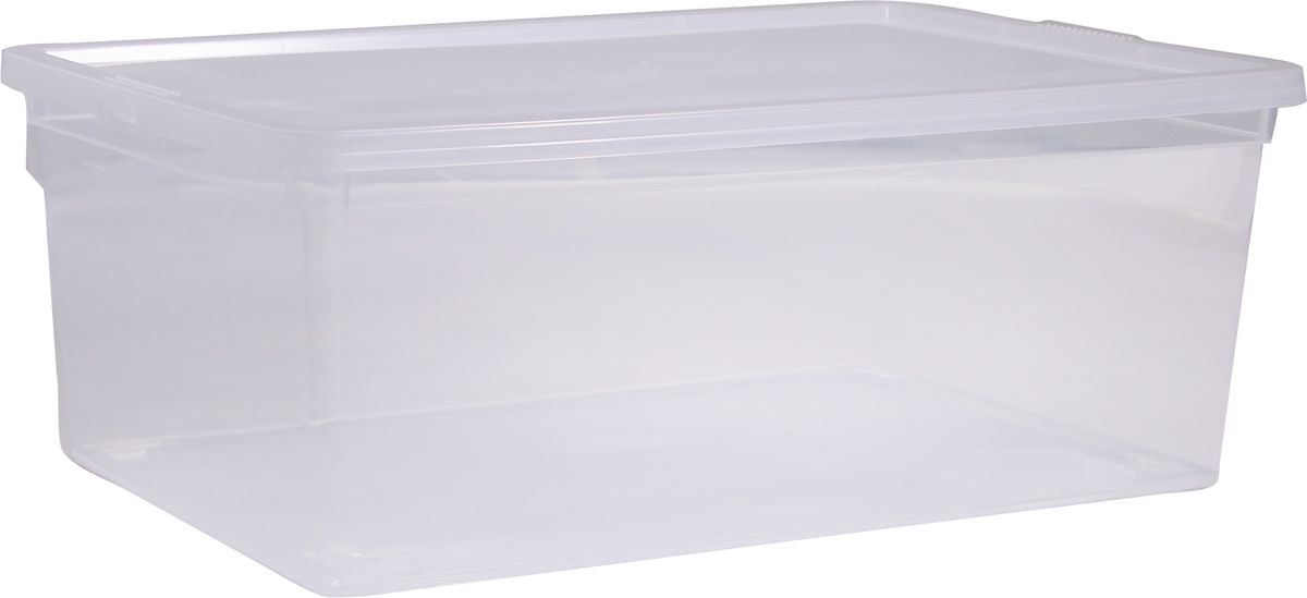Ящик Idea, цвет: прозрачный, 25 лS03301004Ящик Idea выполнен из прочного пластика и предназначен для хранения различныхпредметов. Вместительный ящик плотно закрывается при помощи крышки.Вместительный ящик позволит сохранить нужные вещи в чистоте и порядке, а герметичнаякрышка предотвратит случайное открывание, защитит содержимое от пыли и грязи.Размер ящика (с учетом крышки): 53 х 38 см х 17 см.Объем ящика: 25 л.