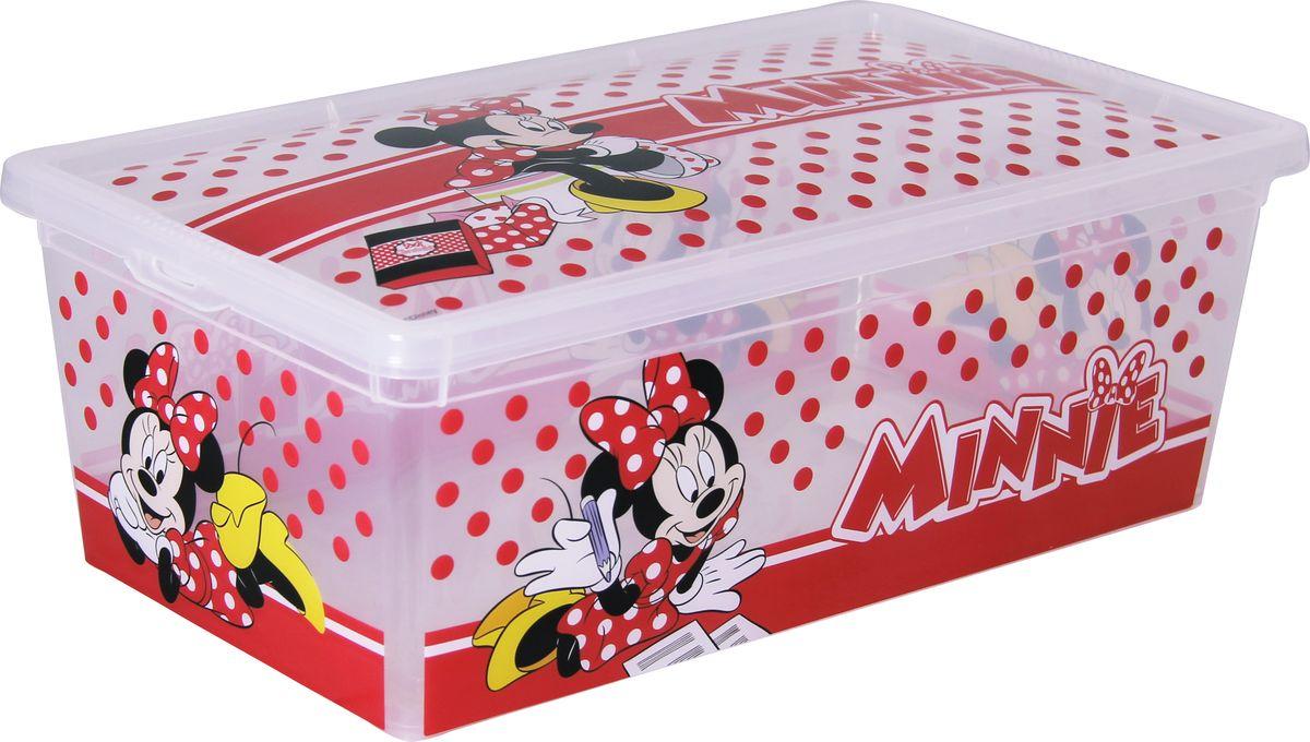 Ящик для хранения Disney Деко, цвет: белый, 5,5 л. М 2356-ДBH-UN0502( R)Яркий и оригинальный ящик для хранения Disney Деко с забавными персонажами непременно привлечет внимание ребенка и станет незаменимым для хранения игрушек, книжек и других детских принадлежностей. Он отлично впишется в детскую комнату и поможет приучить ребенка к порядку. Крышка ящика закрывается на защелки. Ящик безопасен благодаря своей форме с закругленными углами. Конструкция замков позволяет фиксировать крышку, что препятствует попаданию пыли, влаги, насекомых.