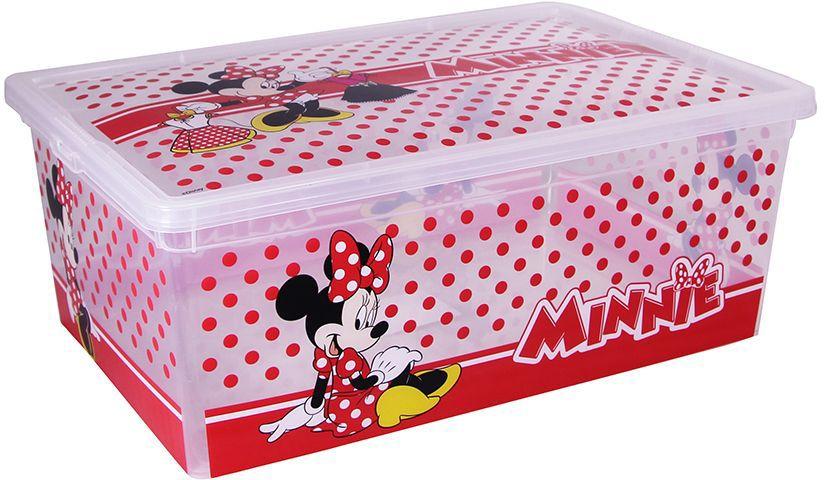 Ящик для хранения Disney Деко, цвет: белый, 10 л. М 2357-ДМ 2357-ДЯркий и оригинальный ящик для хранения Disney Деко с забавными персонажами непременно привлечет внимание ребенка и станет незаменимым для хранения игрушек, книжек и других детских принадлежностей. Он отлично впишется в детскую комнату и поможет приучить ребенка к порядку. Крышка ящика закрывается на защелки. Ящик безопасен благодаря своей форме с закругленными углами. Конструкция замков позволяет фиксировать крышку, что препятствует попаданию пыли, влаги, насекомых.