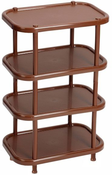 Этажерка для обуви Idea, 4-секционная, цвет: коричневый, 30,7 х 49,2 х 53 см531-402Этажерка Idea с 4 полками выполнена из высококачественного пластика и предназначена для хранения обуви в прихожей. На каждой полке можно разместить по две пары обуви.Очень удобная и компактная, но в тоже время вместительная, этажерка прекрасно впишется в пространство вашей прихожей. Легко собирается и разбирается.