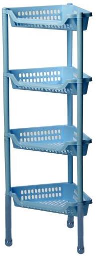 Полка угловая Idea Евро, на колесах, 4 секции, цвет: голубой, 39 х 27 х 95 смМ 2757Удобная и практичная угловая полка Idea Евро станет незаменимым аксессуаром в вашем хозяйстве. Она изготовлена из высококачественного полипропилена и имеет четыре секции. Полку можно установить в ванной комнате, прихожей или кухне. Полка легко передвигается.Благодаря компактным размерам полка впишется в интерьер вашего дома и позволит вам удобно и практично хранить предметы домашнего обихода.Изделие поставляется в разобранном виде.Размер полки: 39 х 27 х 95 см.