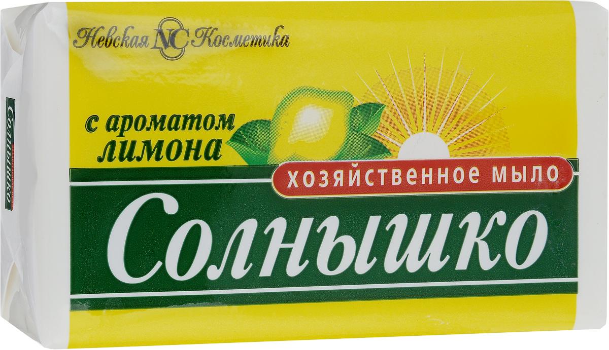 Мыло хозяйственное Солнышко, с ароматом лимона, 140 гCLP446Мыло хозяйственное Солнышко используется для ручной стирки, мытья рук и посуды. Подходит для замачивания и стирки мелких вещей, создает пышную пену. Придает белью свежий аромат лимона.Мыло хозяйственное кусковое легко удаляет жир с посуды, при мытье рук не вызывает раздражения кожи. Содержит не более 72%жирных кислот и большое количество щелочей.Товар сертифицирован.