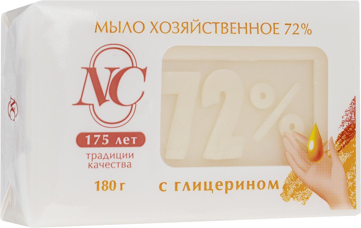 Мыло хозяйственное 72%, с глицерином, 180 г106-026Мыло хозяйственное 72% подходит для ручной стирки изделий из всех типов тканей.Обладает увлажняющим эффектом. Дает обильную пену даже в холодной воде. Подходит для стирки, уборки, мытья посуды и мытья рук Высокое качество компонентов. Без отдушки и красителей Имеет в составе косметическую добавку, которая смягчает кожу рук. Товар сертифицирован.