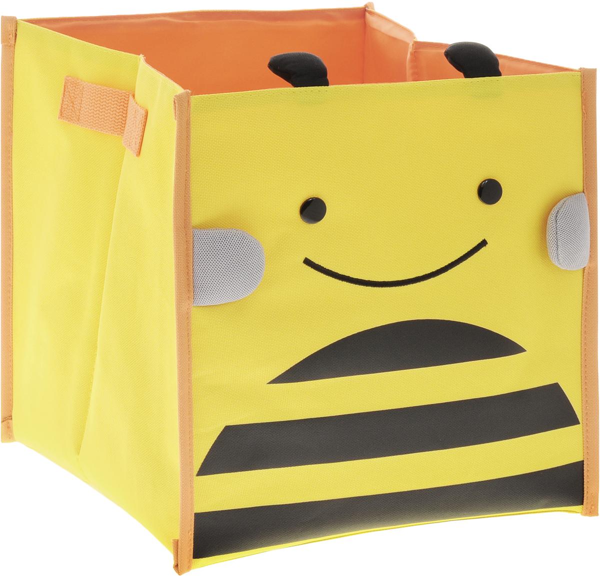Bradex Короб для хранения Пчелка74-0120Короб для хранения Bradex Пчелка привлечет вас своим ярким дизайном. Короб предназначен для хранения небольших детских вещей: игрушек, канцтоваров, одежды и обуви. По бокам изделие имеет небольшие текстильные ручки для удобной переноски.Короб освободит место в квартире и украсит любую детскую комнату.