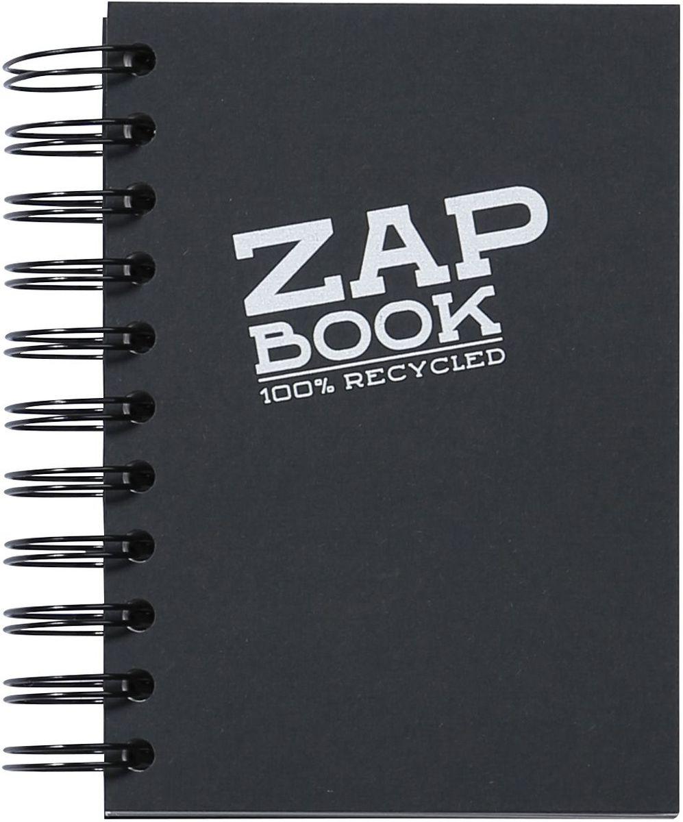 Блокнот Clairefontaine Zap Book, на спирали, цвет: черый, формат A6, 160 листов72523WDОригинальный блокнот Clairefontaine идеально подойдет для памятных записей, любимых стихов, рисунков и многого другого. Плотная обложкапредохраняет листы от порчи изамятия. Такой блокнот станет забавным и практичным подарком - он не затеряется среди бумаг, и долгое время будет вызывать улыбку окружающих.