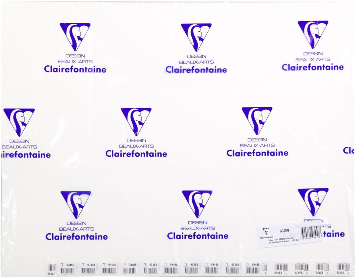 Бумага Clairefontaine Etival, холодный пресс, 50 х 65 см, 25 листов. 93458СRSP-202SБумага ETIVAL (Торшон) холодный пресс (50х65, 300г, 25л) 93458С
