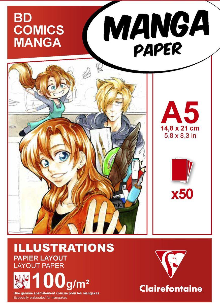 Блокнот Clairefontaine Manga, для маркеров, формат A5, 50 листов72523WDОригинальный блокнот Clairefontaine идеально подойдет для памятных записей, любимых стихов, рисунков и многого другого. Плотная обложкапредохраняет листы от порчи изамятия. Такой блокнот станет забавным и практичным подарком - он не затеряется среди бумаг, и долгое время будет вызывать улыбку окружающих.