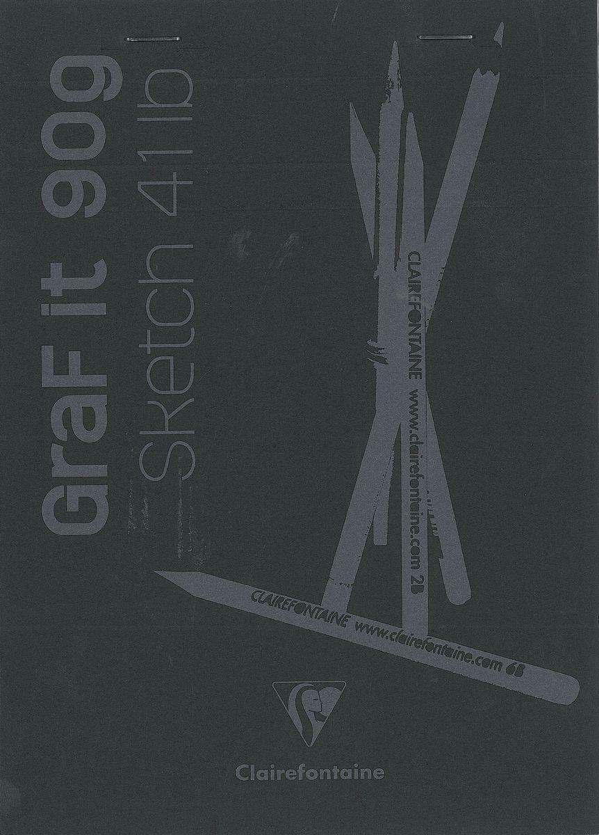 Блокнот Clairefontaine Graf It, для сухих техник, с перфорацией, цвет: черный, формат A5, 80 листов. 96842С72523WDОригинальный блокнот Clairefontaine идеально подойдет для памятных записей, любимых стихов, рисунков и многого другого. Плотная обложкапредохраняет листы от порчи изамятия. Такой блокнот станет забавным и практичным подарком - он не затеряется среди бумаг, и долгое время будет вызывать улыбку окружающих.