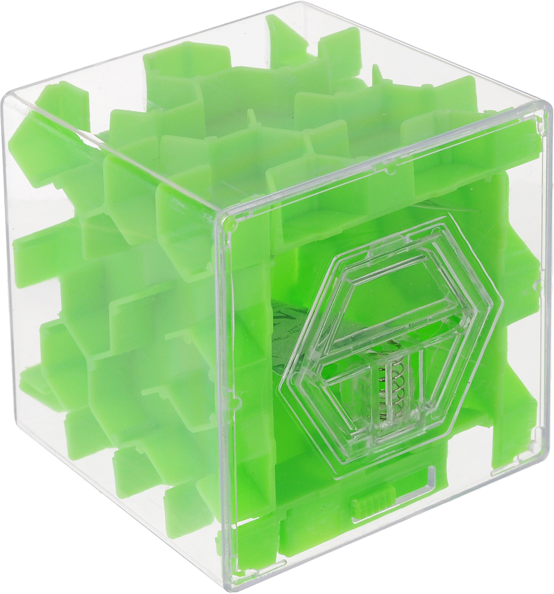 Копилка-головоломка Эврика Лабиринт, цвет: зеленый74-0120Копилка Лабиринт - это самая настоящая головоломка. Она изготовлена из высококачественного пластика. Чтобы достать накопленные денежки, необходимо провести шарик по запутанному пути.Копилка Лабиринт - оригинальный способ преподнести подарок. Положите купюру в копилку и смело вручайте имениннику. Вашему другу придется потрудиться, чтобы достать подаренную купюру. Копилка имеет отверстие, чтобы класть в неё деньги.Размер копилки: 6,5 х 6,5 х 6,5 см.