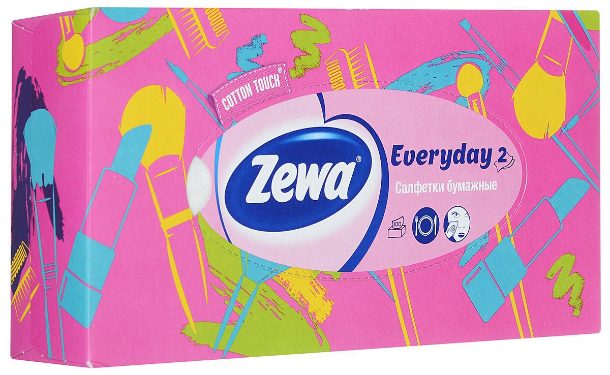 Zewa Платки косметические в коробке Everyday, 100 шт40055_белыйZewa Платки косметические в коробке Everyday, 100 шт
