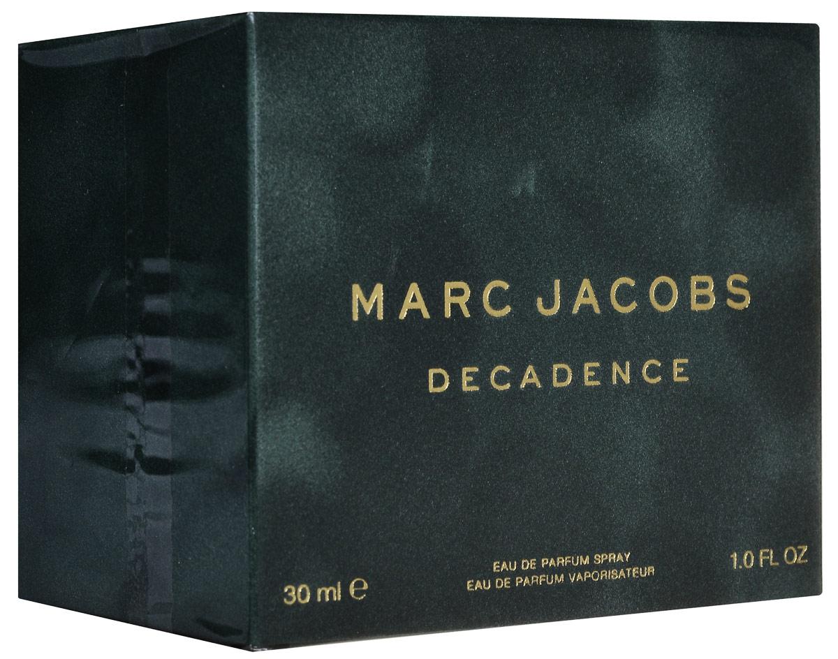 Marc Jacobs Decadence Парфюмерная вода женская 30 мл58995004000Marc Jacobs Decadence - Это утонченный чувственный древесный аромат. Он очаровывает с первых страстных нот сочной итальянской сливы, золотого душистого шафрана и утонченного ириса. Сердце аромата пронизано чарующим благоуханием болгарской розы, пышным звучанием фиалкового корня и нотами великолепного жасмина самбак. Сексуальные аккорды жидкой амбры, ветивера и пьянящего сухого папирусного дерева сплетаются в классический самодостаточный и изысканный шлейф.decadence поднимает легкие и очаровательные композиции от marc jacobs на новый уровень роскоши и элегантности.Верхняя нота: Слива, Ирис и Шафран.Средняя нота: Болгарская роза, Жасмин самбак и Ирис.Шлейф: Амбра, Ветивер и Папирус.Шафран, ирис и итальянская слива, в сочетании с древесными аккордами создают аромат Marc Jacobs Decadence.Дневной и вечерний аромат.