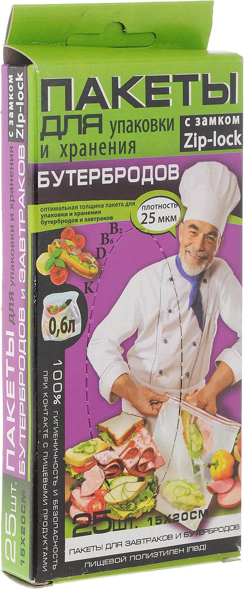 Пакет для хранения бутербродов Kwestor, 15 х 20 см, 25 шт625-004Пакет для хранения бутербродов Kwestor изготовлен из инновационного трехслойного полиэтилена с усиленным средним слоем. Продукты не прилипают к полиэтилену, не теряют влаги, сохраняют все витамины и минералы.Пакеты имеют удобный замок-слайдер, благодаря которому пакет мгновенно герметично закрывается.Пакет Kwestor - идеальное решение для хранения бутербродов. В комплекте 25 пакетов. Максимальный объем: 0,6 литра.Размер пакета: 15 х 20 см.