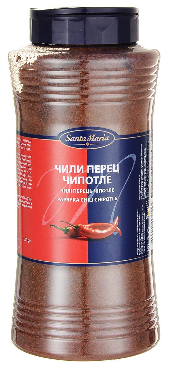 Santa Maria Чили перец Чипотле, 550 г0120710Перец Чипотле отлично подойдет для гриля, сальсы, соусов или маринадов. Придает блюдам сбалансированный копченый вкус. Если смешать с солью, можно использовать как соль со вкусом дымка для барбекю. Уровень жгучести: 6 (по шкале жгучести от 1 до 10).Уважаемые клиенты! Обращаем ваше внимание, что полный перечень состава продукта представлен на дополнительном изображении.