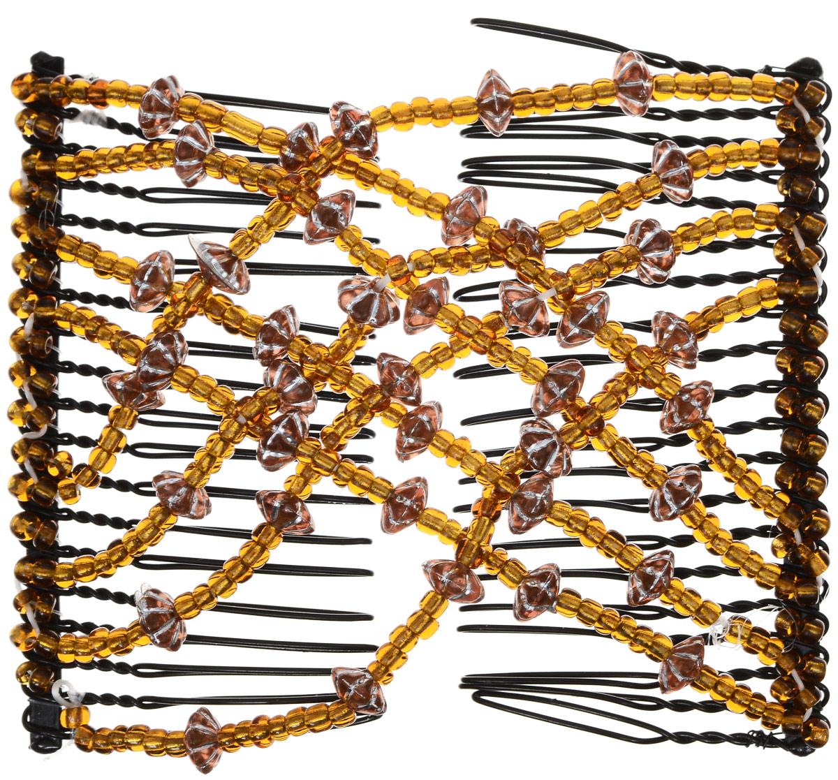 EZ-Combs Заколка Изи-Комбс, одинарная, цвет: коричневый. ЗИО_цветок с серебром3065Удобная и практичная EZ-Combs подходит для любого типа волос: тонких, жестких, вьющихся или прямых, и не наносит им никакого вреда. Заколка не мешает движениям головы и не создает дискомфорта, когда вы отдыхаете или управляете автомобилем. Каждый гребень имеет по 20 зубьев для надежной фиксации заколки на волосах! И даже во время бега и интенсивных тренировок в спортзале EZ-Combs не падает; она прочно фиксирует прическу, сохраняя укладку в первозданном виде.Небольшая и легкая заколка для волос EZ-Combs поместится в любой дамской сумочке, позволяя быстро и без особых усилий создавать неповторимые прически там, где вам это удобно. Гребень прекрасно сочетается с любой одеждой: будь это классический или спортивный стиль, завершая гармоничный облик современной леди. И неважно, какой образ жизни вы ведете, если у вас есть EZ-Combs, вы всегда будете выглядеть потрясающе.