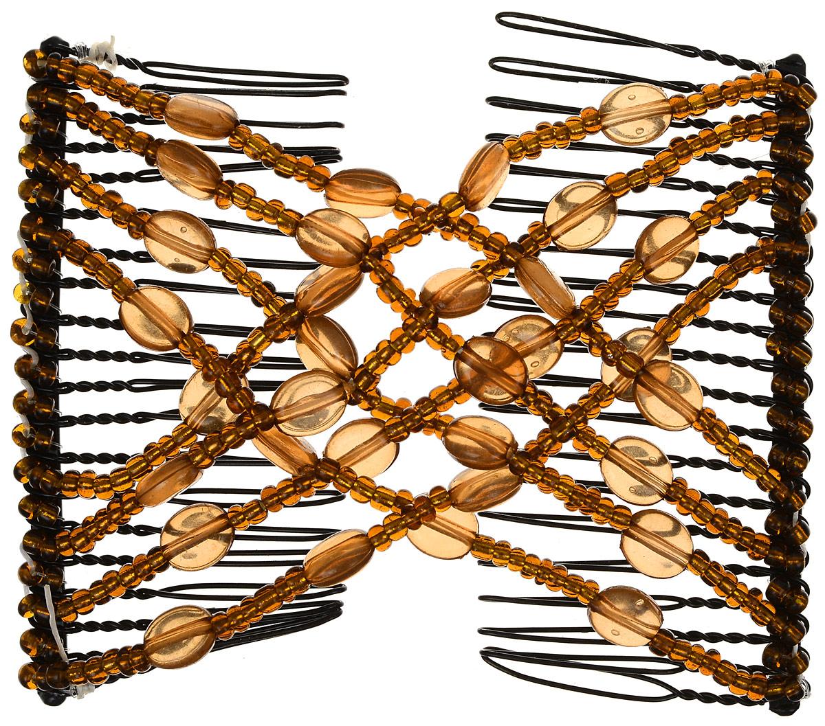 EZ-Combs Заколка Изи-Комбс, одинарная, цвет: коричневый. ЗИО_овалы