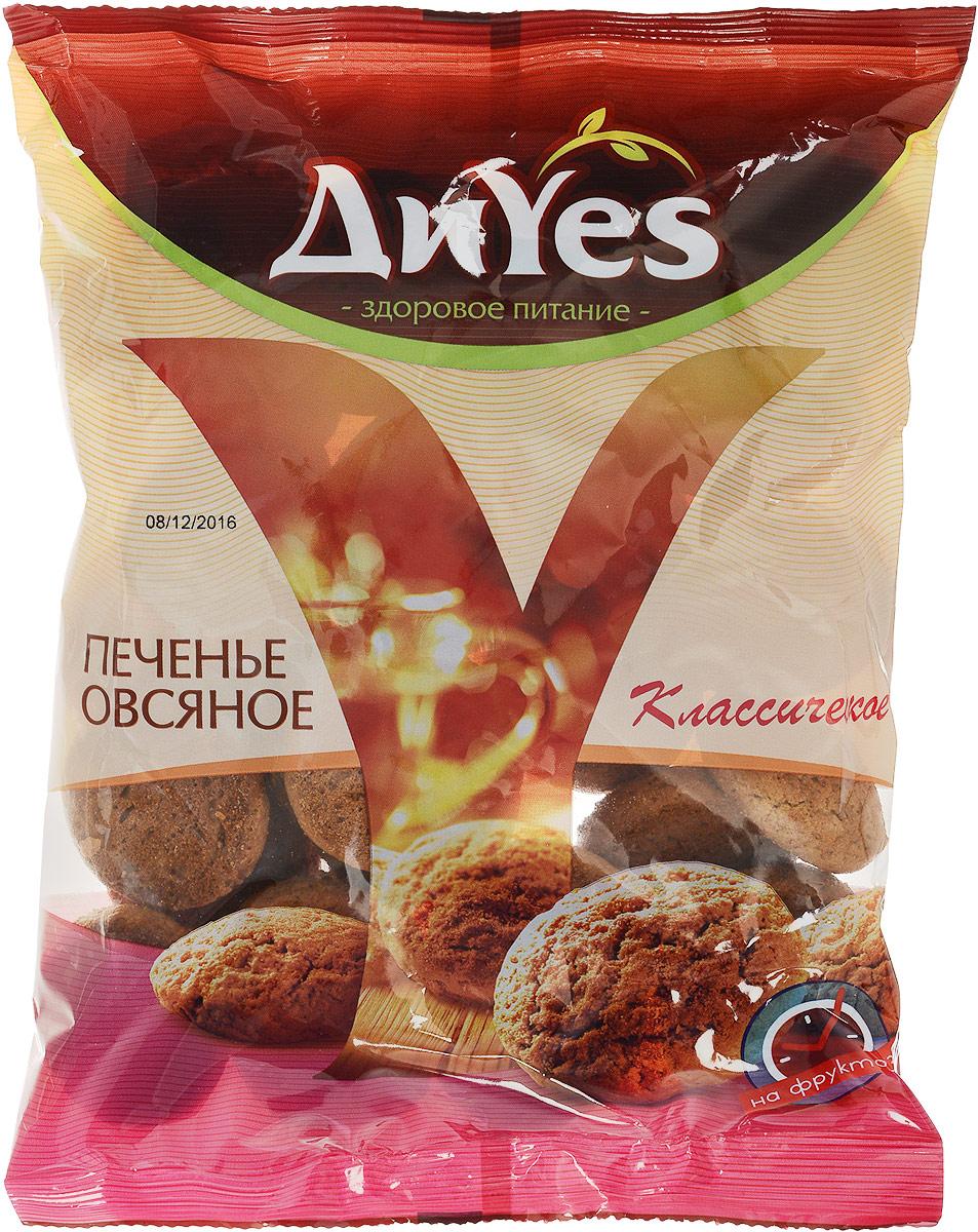 ДиYes Печенье овсяное на фруктозе, 330 г0120710Овсяное печенье ДиYes изготавливается из овсяных хлопьев, а значит является источником таких незаменимых для человеческого организма элементов, как: цинк, магний, калий, железо, витамины В1 и Е. Кроме того, овес содержит кальций, укрепляющий кости, ногти и зубы. В данном продукте сахар заменен на фруктозу, которая является дополнительным источником энергии, не разрушает зубы, а также может использоваться в рационе людей, ограниченных в потреблении сахара. А еще овсяное печенье - отличный вариант для детей, которые, как правило, не любят овсяную кашу, а вот от вкусного пышного печенья вряд ли откажутся.Уважаемые клиенты! Обращаем ваше внимание, что полный перечень состава продукта представлен на дополнительном изображении.