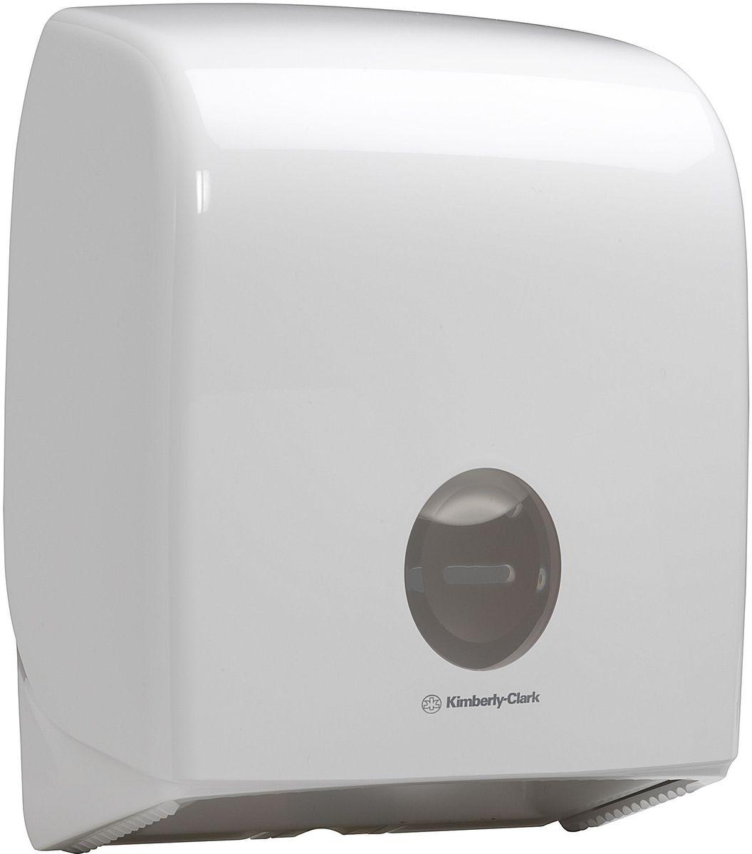 Диспенсер для туалетной бумаги Aquarius Jumbo, большой рулон, цвет: белый. 695868/5/1Ассортимент диспенсеров для рулонной туалетной бумаги, которые выполнены в одном стиле с диспенсерами для мыла и для полотенец для рук. Диспенсеры мотивируют сотрудников соблюдать гигиенические нормы, повышают уровень комфорта, демонстрируют заботу о персонале и помогают сократить расходы. Идеальное решение, обеспечивающее подачу рулонной туалетной бумаги из элегантного диспенсера в туалетных комнатах с высокой проходимостью, легкая загрузка, практичное, гигиеничное и экономичное решение. Диспенсер имеет съемную ось, и межет быть использован с рулонами с диаметром втулки 44/60/76 мм. Максимальный диаметр рулона – 200 мм.Формат поставки: диспенсер современного дизайна, обтекаемой формы, обеспечивающий быструю заправку; белое глянцевое, легко очищаемое покрытие; отсутствие мест скопления пыли и грязи; смотровое окно для контроля за расходными материалами; возможность выбора цветовых вставок в соответствие с интерьером конкретных туалетных комнат. Замена диспенсера 6988. Совместим с туалетной бумагой: 8512.