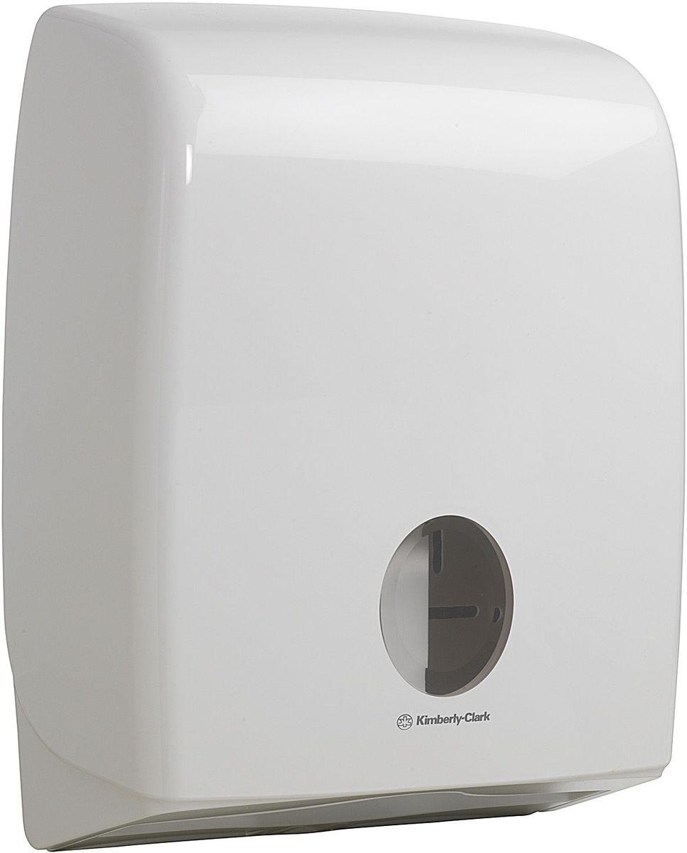 Диспенсер Aquarius, для сложенной туалетной бумаги, цвет: белый. 699068/5/1Ассортимент диспенсеров большой ёмкости для сложенной туалетной бумаги из скоординированной линейки диспенсеров для туалетных комнат. Диспенсеры мотивируют сотрудников соблюдать гигиенические нормы, повышают уровень комфорта, демонстрируют заботу о персонале и помогают сократить расходы. Идеальное решение, обеспечивающее подачу по одному листу без касания диспенсера, снижение риска перекрестного загрязнения и предотвращение распространения бактерий. Наше уникальное запатентованное устройство защиты от переполнения облегчает процесс заправки, помогает предотвратить заминание продукта и снижает объем отходов. Вмещает более 5 пачек сложенной бумаги и подходит для туалетных комнат с высокой посещаемостью.Формат поставки: диспенсер современного дизайна, обтекаемой формы, обеспечивающий быструю заправку; белое глянцевое, легко очищаемое покрытие; отсутствие мест скопления пыли и грязи; смотровое окно для контроля за расходными материалами; возможность выбора цветовых вставок в соответствие с интерьером конкретных туалетных комнат. Совместим с туалетной бумагой: 8035, 8036, 8408, 8409, 8508, 8109.