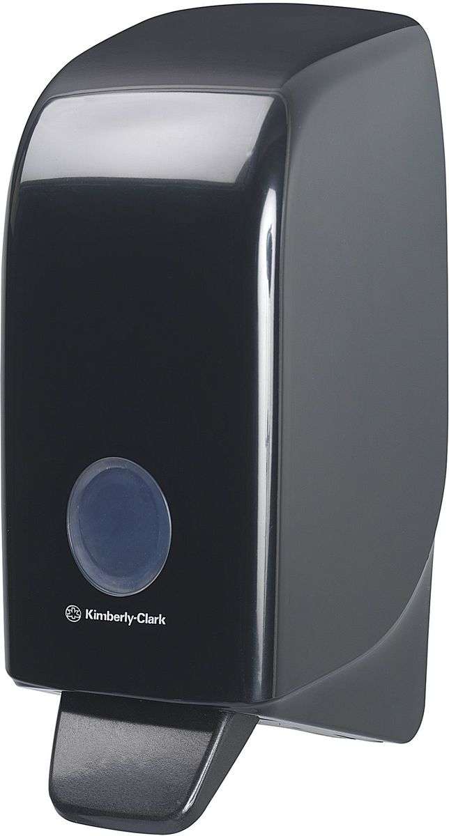 Диспенсер для мыла Aquarius, цвет: черный, 1 л. 717328907 4Ассортимент диспенсеров для моющих средств для рук из скоординированной линейки диспенсеров для туалетных комнат. Диспенсеры мотивируют сотрудников соблюдать гигиенические нормы, повышают уровень комфорта, демонстрируют заботу о персонале и помогают сократить расходы. Идеальное решение для подачи жидкого или пенного мыла. Максимальная универсальность и сокращение затрат, легкая заправка при большой вместимости обеспечивает потребности любых туалетных комнат.Формат поставки: диспенсер современного дизайна, обтекаемой формы, обеспечивающий быструю заправку; черное глянцевое, легко очищаемое покрытие; отсутствие мест скопления пыли и грязи; смотровое окно для контроля за расходными материалами; возможность выбора цветовых вставок в соответствие с интерьером конкретных туалетных комнат. Замена диспенсера 6964, 6976 и 6983. Совместим с моющими средствами: 6330, 6331, 6332, 6333, 6334, 6340, 6341, 6342, 6352, 6385.