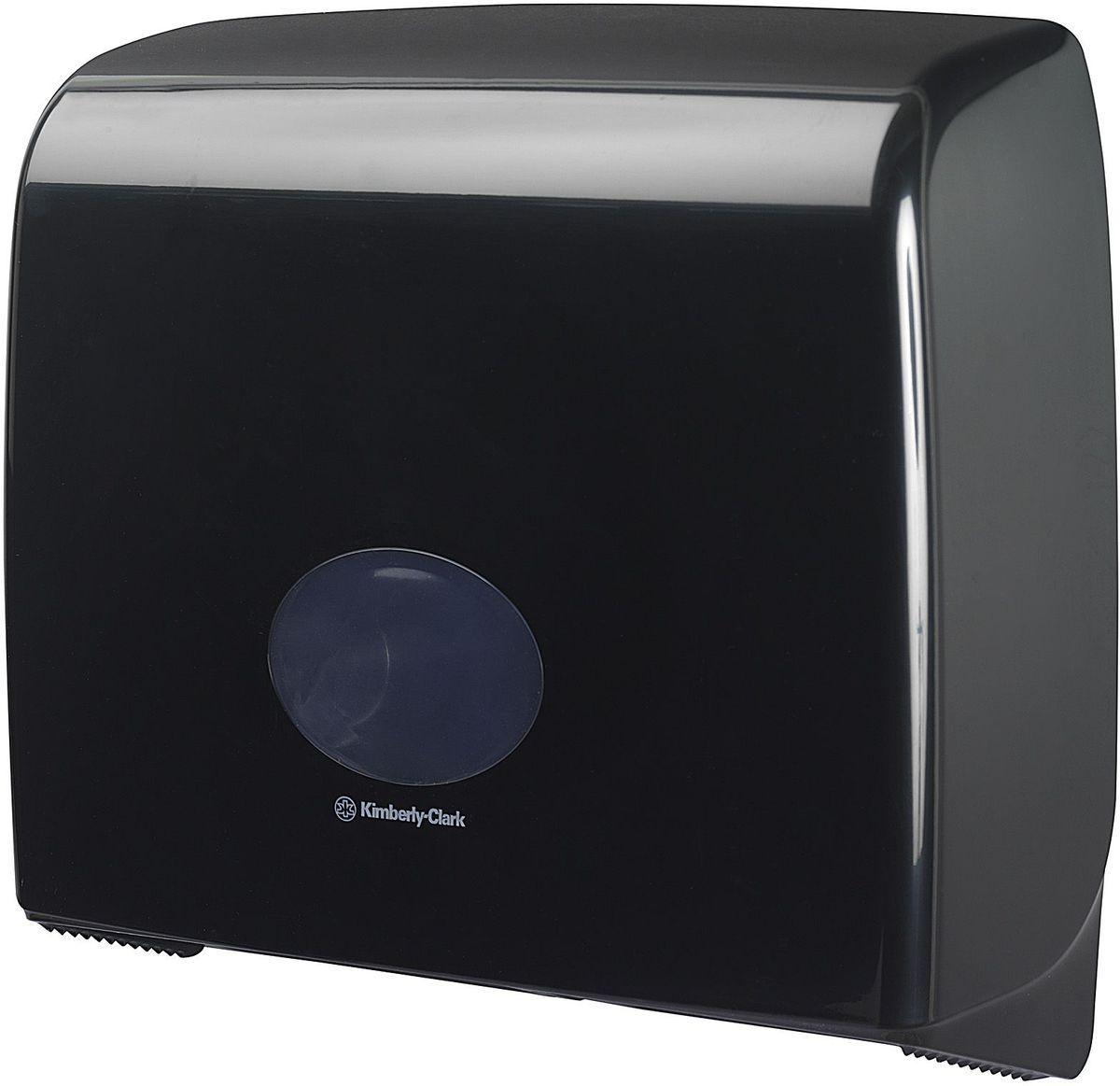 Диспенсер для туалетной бумаги Aquarius Jumbo, большой рулон, цвет: черный. 718474-0120Ассортимент диспенсеров для рулонной туалетной бумаги, которые выполнены в одном стиле с диспенсерами для мыла и для полотенец для рук. Диспенсеры мотивируют сотрудников соблюдать гигиенические нормы, повышают уровень комфорта, демонстрируют заботу о персонале и помогают сократить расходы. Идеальное решение, обеспечивающее подачу рулонной туалетной бумаги из элегантного диспенсера в туалетных комнатах с высокой проходимостью, легкая загрузка, практичное, гигиеничное и экономичное решение.Формат поставки: диспенсер современного дизайна, обтекаемой формы, обеспечивающий быструю заправку; черное глянцевое, легко очищаемое покрытие; отсутствие мест скопления пыли и грязи; смотровое окно для контроля за расходными материалами; возможность выбора цветовых вставок в соответствие с интерьером конкретных туалетных комнат. Замена диспенсера 6987. Совместим с туалетной бумагой: 8440, 8442, 8446, 8449, 8474, 8484, 8517, 8519, 8559.