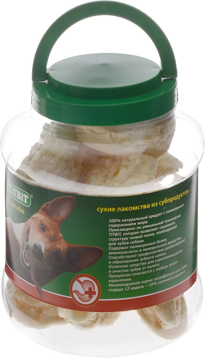 Лакомство для собак Titbit, говяжье ухо, 4,3 л лакомство для собак titbit печенье pene с сыром и зеленью