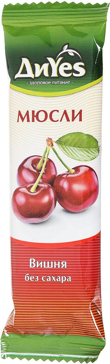 ДиYes Батончик мюсли Вишня без сахара, 25 г0120710Батончики мюсли ДиYes без добавления сахара подойдут для людей, заботящихся о своей фигуре, а также для тех, кому противопоказано употребление сахара. Это быстрый и вкусный вариант перекуса или сытного дополнения к чаю. Произведенные на современном оборудовании, из лучших ингредиентов и по европейским рецептурам, они не уступают по качеству любому аналогу и будут по достоинству оценены людьми, ведущими здоровый образ жизни.Уважаемые клиенты! Обращаем ваше внимание, что полный перечень состава продукта представлен на дополнительном изображении.