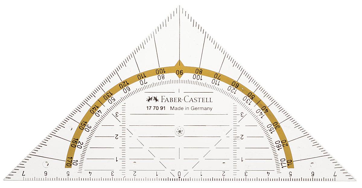 Faber-Castell Многофункциональный треугольник Комби177091Треугольник Faber-Castell Комби, выполненный из прочного пластика, который может быть использован как треугольник, линейка и транспортир. Треугольник предназначен для построения углов без помощи транспортира.