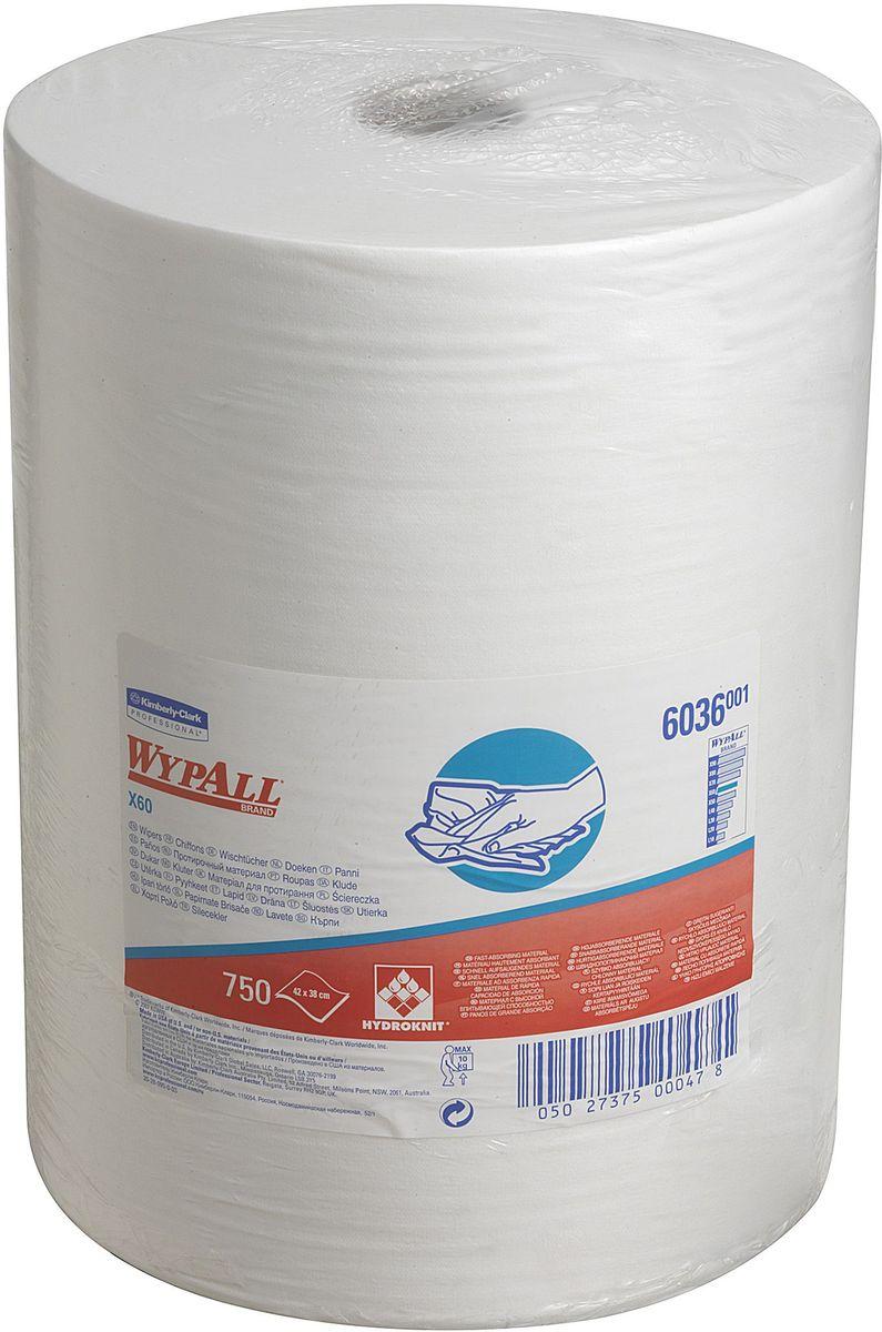 Полотенца бумажные Wypall Х60, 750 шт787502Бумажные полотенца Wypall Х60 обладают отличной впитывающей способностью, долговечностью и прочностью, как в сухом, так и во влажном состоянии. Подходят для работы по очистке от клея, масла, мусора, стекол, а также для прецизионной очистки сложных механизмов и деталей.