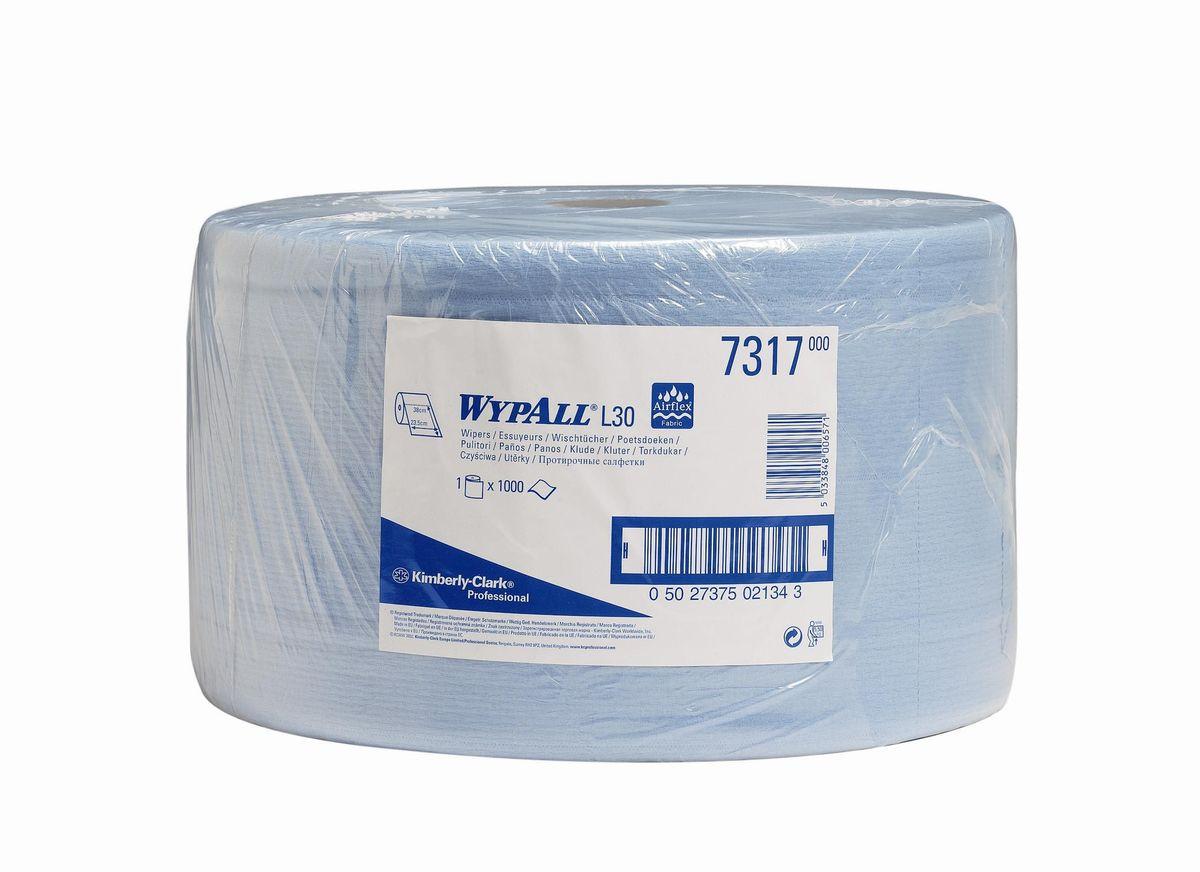 Полотенца бумажные Wypall L20 Extra, двухслойные, 1000 шт. 7317391602Бумажные полотенца Wypall L20 Extra отличаются особенной прочностью и быстротой впитывания жидкостей. Они идеально подойдут для универсальных задач: сбора грязи, работы с маслом, протирки и впитывания жидкостей в пищевой промышленности, а также в автомобильной индустрии и многих других областей.
