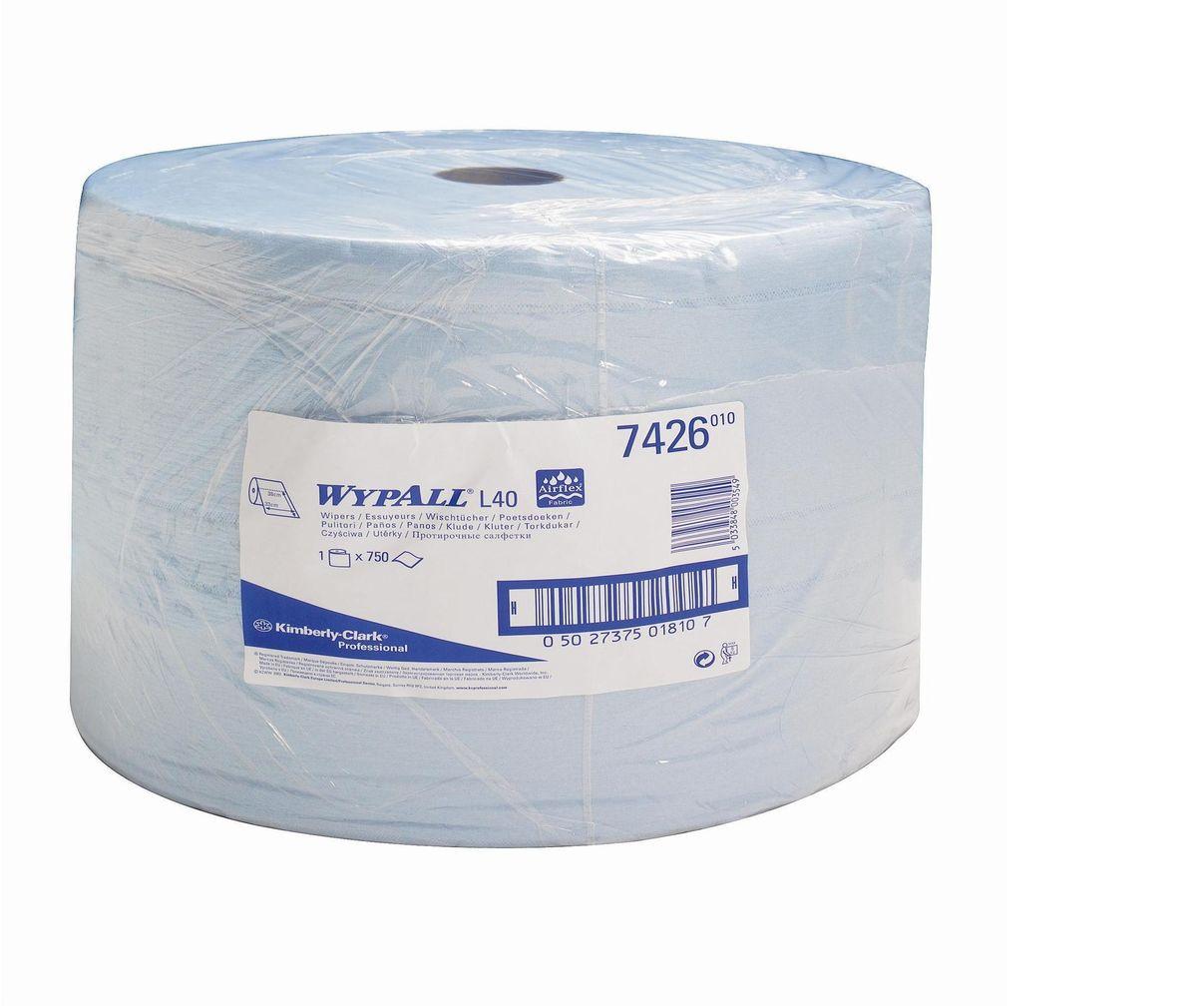 Полотенца бумажные Wypall L40, трехслойные, 750 листов. 7426V30 AC DCБумажные полотенца Wypall L40 - это идеальное решение для сухой очистки оборудования высокой степени важности и поверхностей в фармацевтической промышленности, в высокотехнологичных биотехнологических отраслях, при производстве медицинского оборудования, а также очистки на участках пищевой промышленности. Полотенца Wypall L40 могут использоваться с переносными или стационарными диспенсерами для контроля расхода продукта и уменьшения объема отходов. Количество: 750 шт.